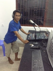 Dren at the sound desk