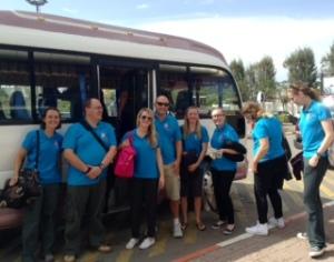 Team Guernsey arrive